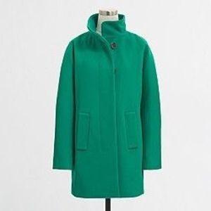 J.crew Factory green city coat, petite size 8